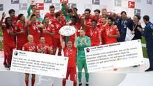 So jubelt der Dauer-Meister: Der FC Bayer ist zum siebten Mal in Folge Deutscher Meister