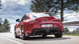 Der Heckspoiler soll beim Toyota GR Supra für Abtrieb sorgen