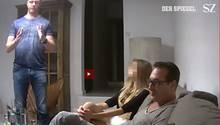 Der Screenshot aus dem Video zeigt Österreichs Vizekanzler und FPÖ-Chef Heinz-Christian Strache und Fraktionschef Johann Gudenus