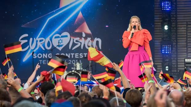 ESC 2019: Barbara Schöneberger beim Public Viewing in Hamburg