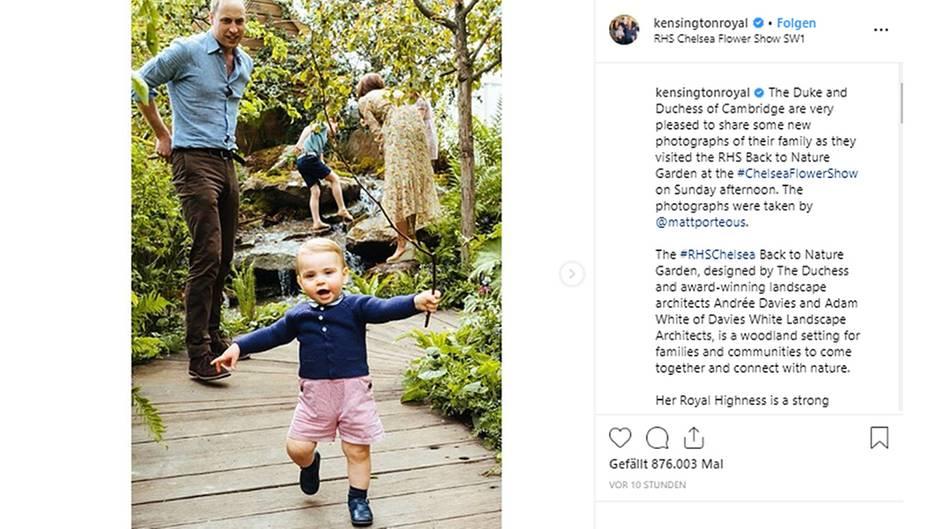Prinz William und sein Sohn Prinz Louis