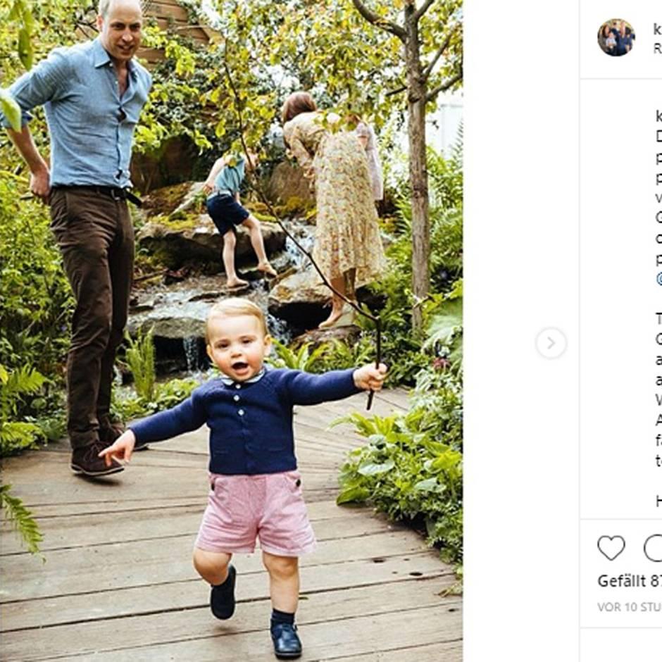 Sohn von William und Kate: Hier kommt der Prinz: Louis macht seine ersten Schritte in der Öffentlichkeit