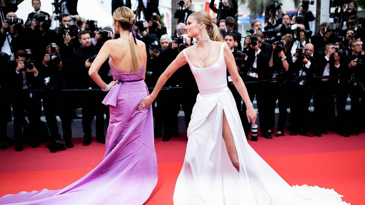 Filmfestspiele in Cannes: Kleider machen Leute: Lena als Braut und Toni Garrn in knapper Robe