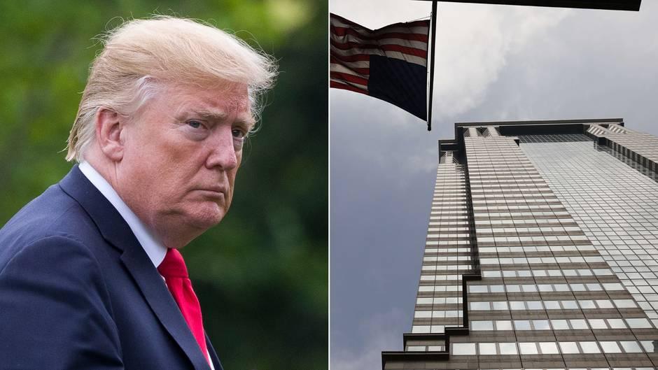 Donald Trump und die Deutsche Bank -rechts, die Zentrale in New York verbinden jahrezehntelange Geschäftsbeziehungen