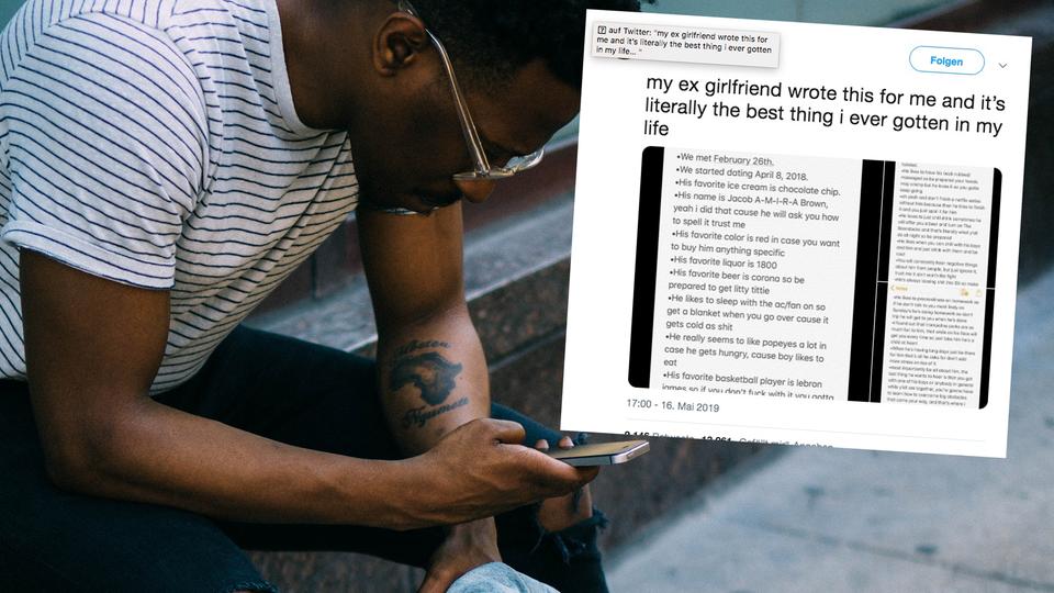 Twitter: Frau schreibt Notiz an zukünftige Freundin ihre Ex-Freundes