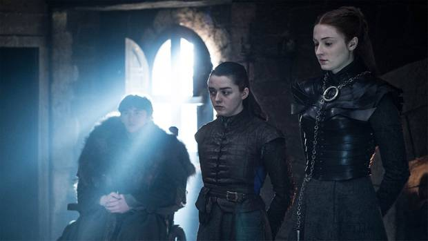 """Game of Thrones"" Finale Bran, Arya, Sansa"