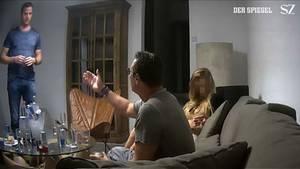 Screenshot aus dem Video mit Heinz-Christian Strache (r.) und FPÖ-Fraktionschef Johann Gudenus