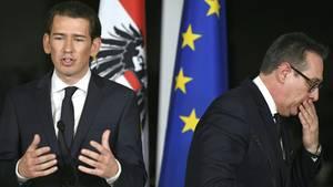 Sebastian Kurz und Heinz-Christian Strache - FPÖ und ÖVP stolperen über Ibiza-Video