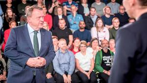 Lars Løkke Rasmussen bei einem TV-Duell
