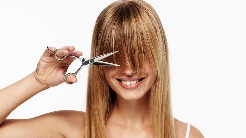 Haare selber schneiden leichte stufen