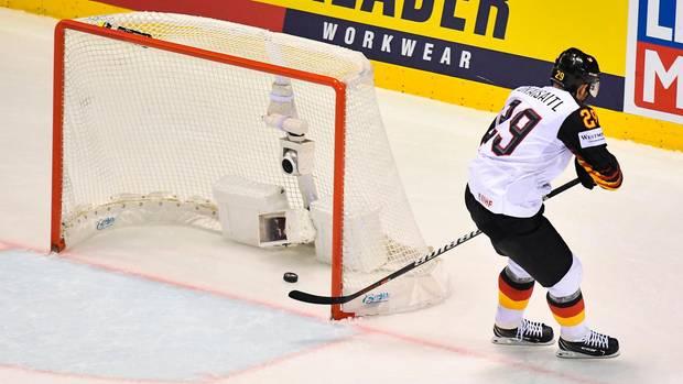 Deutschland - Finnland 4:2 - Leon Draisaitl trifft während der WM-Vorrunde