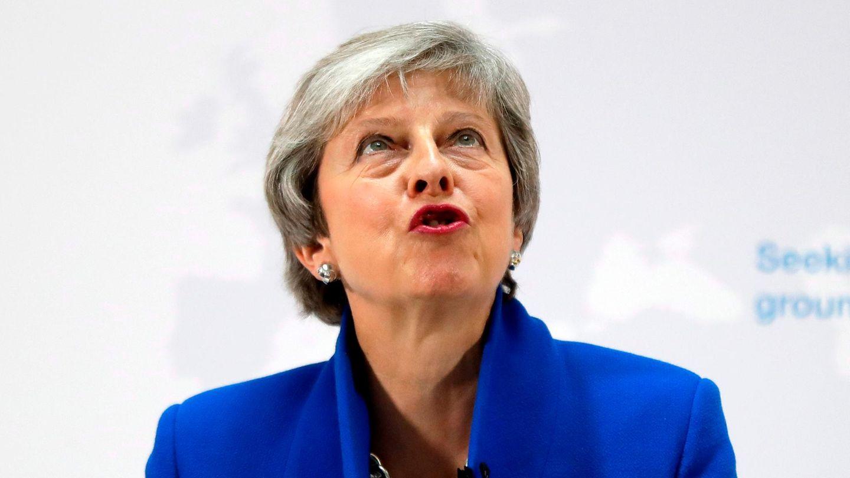 Großbritanniens Premierministerin Theresa May bei ihrer Rede am Dienstag in London