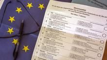 Europawahl Stimmzettel