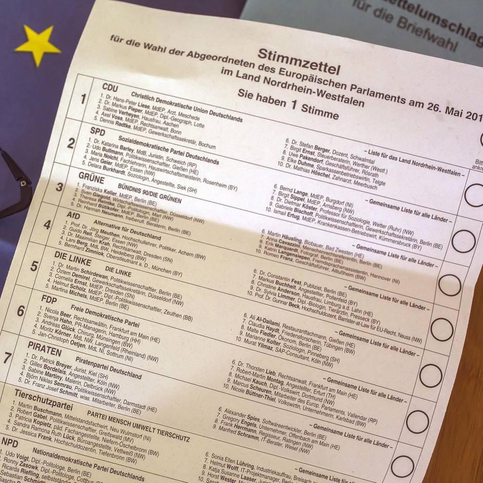 Wahlablauf: Europawahl 2019: So sieht der Stimmzettel aus und so setzen Sie ihr Kreuz richtig