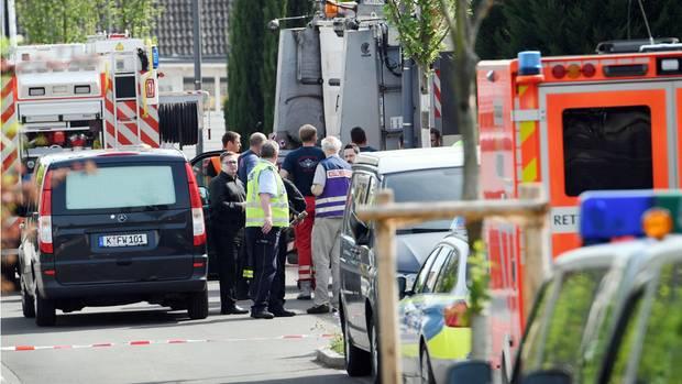 Der Unfallort in Köln, bei dem ein siebenjähriger Junge starb