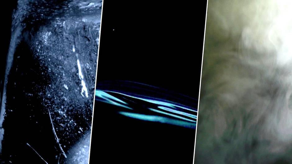 Forscher haben bei Weltraumexperimenten zu Wasser schwarzes, heißes Eis erschaffen.