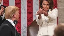 Donald Trump, Präsident der USA und die Demokratin Nancy Pelosi, Vorsitzende des Abgeordnetenhauses