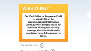 Wahlomat off
