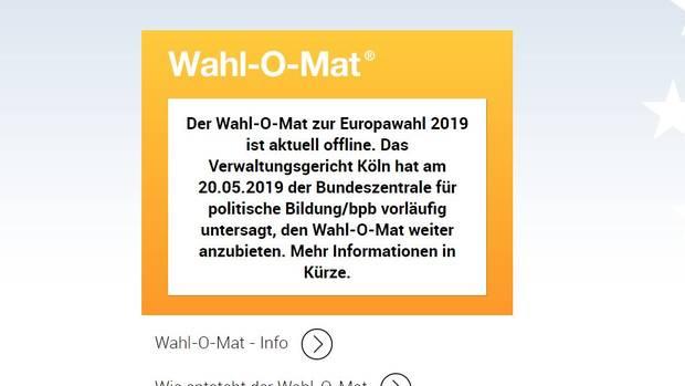 Wahlomat off