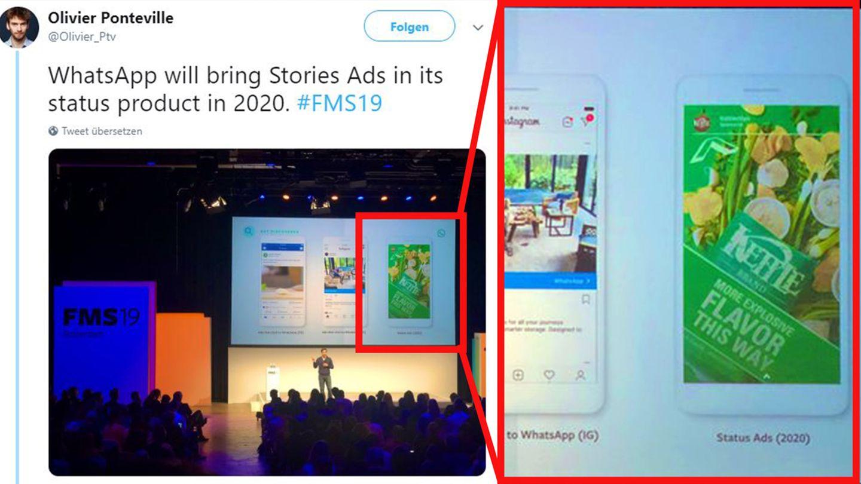 So präsentierte Facebook sein Werbekonzept für Whatsapp