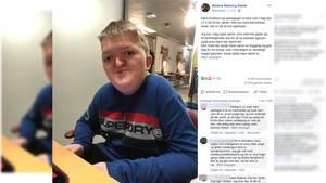 Der Facebook-Beitrag von Silas Roest Mutter Malene