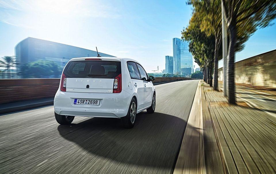 Der Skoda Citigo e iV teilt sich die Technik mit dem VW e-Up