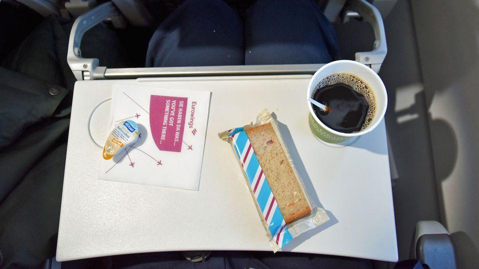Das war das kostenlose Angebot für Smart-Passagiere auf einem Eurowingsflug Anfang 2019