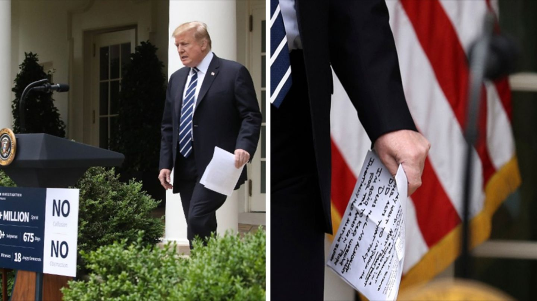 Spickzettel Trump