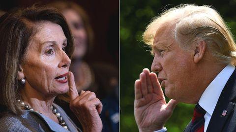 Die Sprecherin des Repräsentantenhauses Nancy Pelosi und US-Präsident Donald Trump