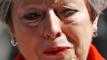 Theresa May fiel die Ankündigung ihres Rückzugs sichtlich schwer. Die vergangenen Monate und das Brexit-Chaos zehrten an den Nerven der Premierministerin
