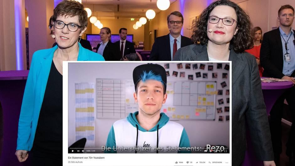 """Neues """"Rezo""""-Video: Youtuber rufen zu Wahlboykott von Union, SPD und AfD auf"""