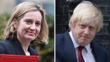 Amber Rudd, links im Bild, und Boris Johnsen