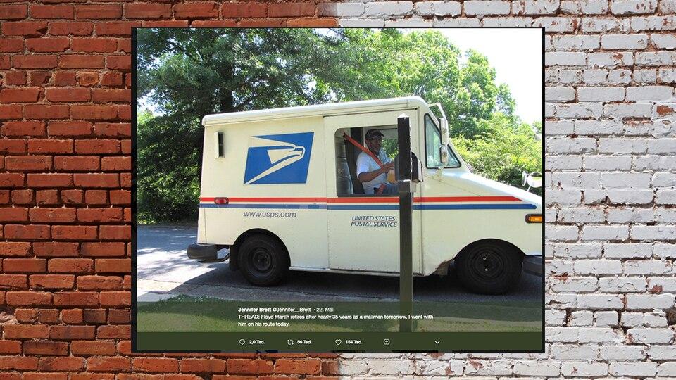 Postbote geht nach 34 Jahren in Ruhestand – Nachbarn verabschieden ihn rührend