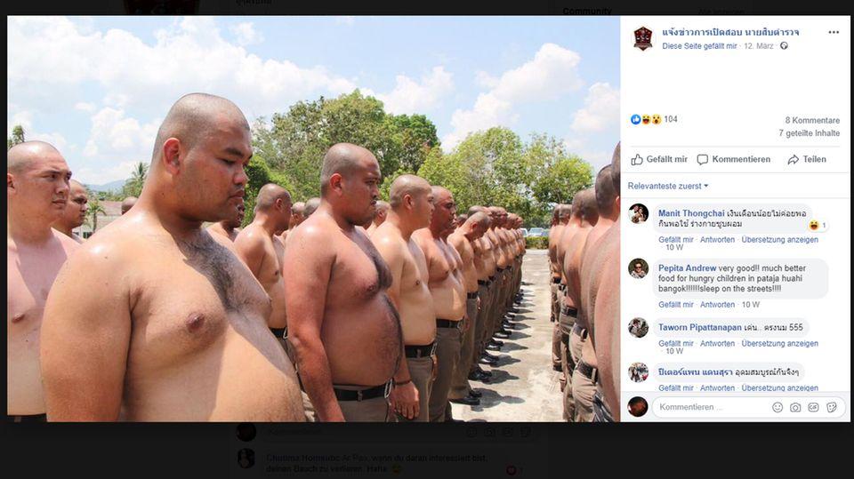 Thailand: Bootcamp statt Bäuchlein: Thailand schickt übergewichtige Polizisten ins gnadenlose Training