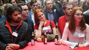 Europawahl 2019: SPD-Anhängern in Berlin