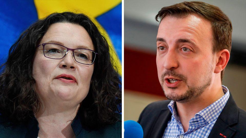 SPD Chefin Andrea Nahles und CDU-Generalsekretär Paul Ziemiak