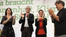 Grünen-Chefs Annalena Baerbock und Robert Habeck (l. und r.), sowie die Europawahl-Spitzenkandidaten Sven Giegold und Ska Keller