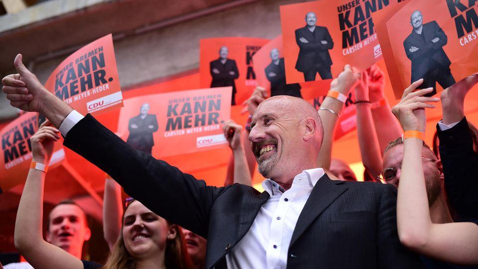 Bremen - Carsten Meyer-Heder für die CDU - siegt nach 70 Jahren über die SPD