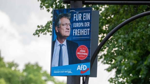 In Sachsen und Brandenburg ist die AfD bei der Europawahl mit Spitzenkandidat Jörg Meuthen stärket Kraft geworden