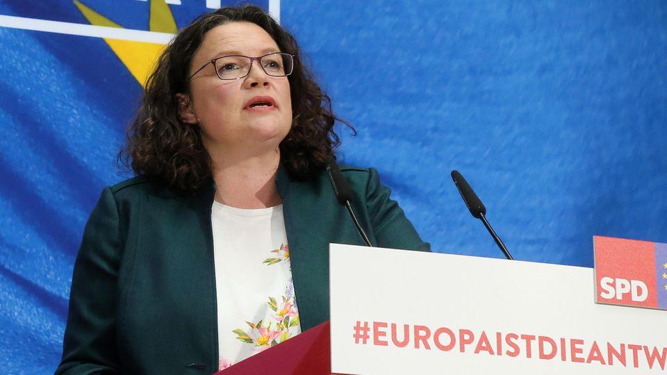 Die SPD-Parteivorsitzende Andrea Nahles