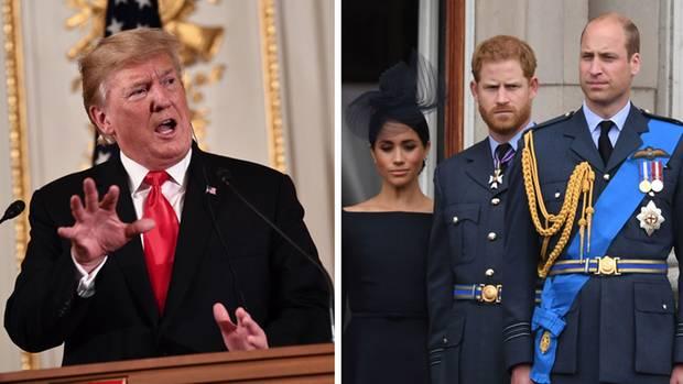 Donald Trump, Herzogin Meghan, Prinz Harry und Prinz William