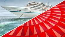 Sie sind nicht nur bunt, sondern unruhig gemustert und daher besonders pflegeleicht: Teppichböden auf Kreuzfahrtschiffen.