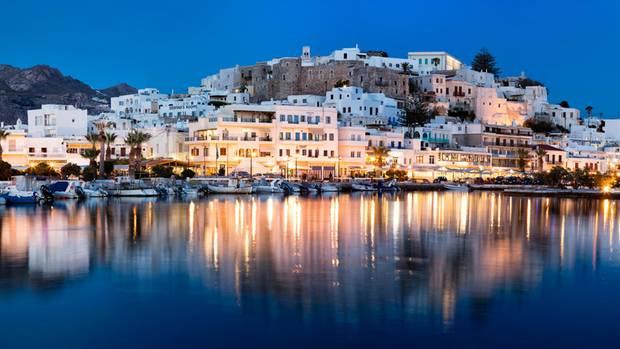 Abendpanorama: Chora auf Naxos
