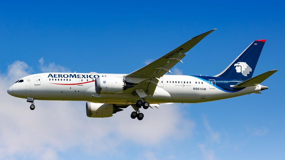 Eine Boeing 787-8 Dreamliner der AeroMexico