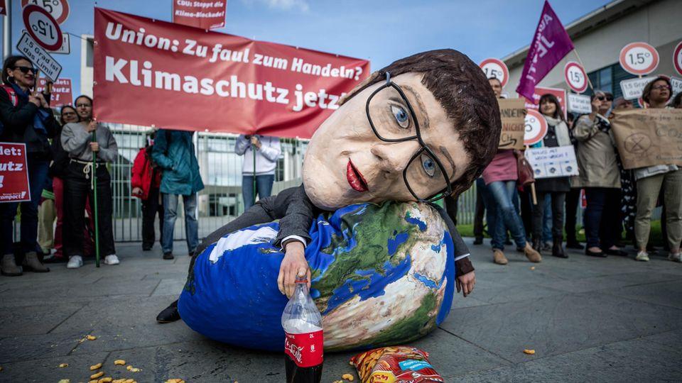 Klimaprotest gegen die CDU und AKK