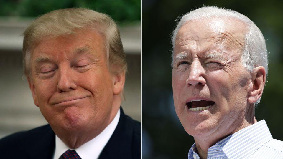 US-Präsident Donald Trump (l.) und Joe Biden