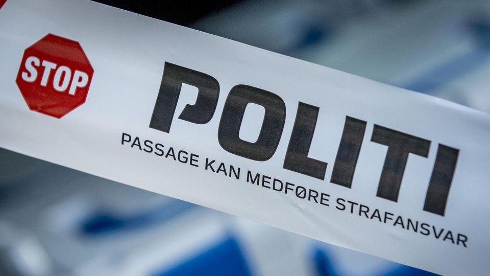 Eine Absperrung der Polizei in Dänemark