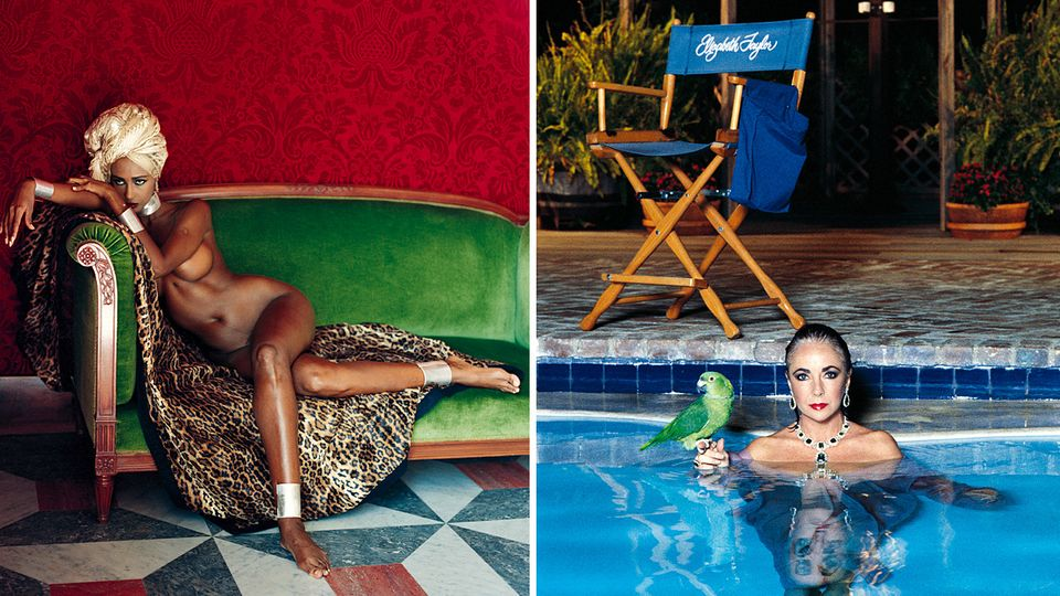 """Helmut Newton """"Sumo"""": Die nackte Iman und Liz Taylor im Pool: Fotos aus dem teuersten Bildband des 20. Jahrhunderts"""