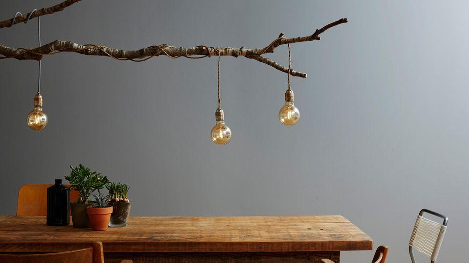 Selbst gebaute Lampen haben Charme und Stil