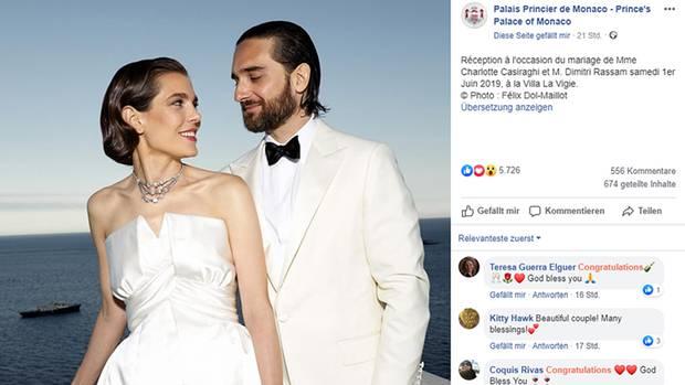 Charlotte Casiraghi bei ihrer Hochzeit mit Dimitri Rassam